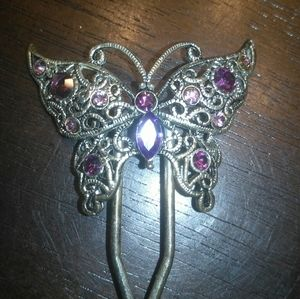 Accessories - Vin Rhinestone butterfly hair clip